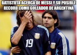 Enlace a Batistuta opina sobre el récord de Messi