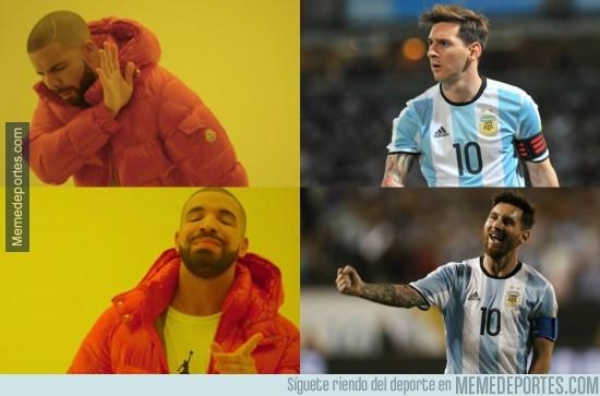 876300 - Messi con barba en Argentina es otra cosa