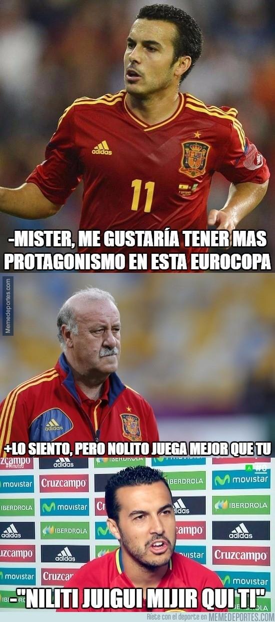 877822 - Duras declaraciones de Pedro al no jugar en la Eurocopa