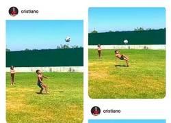 Enlace a Cuando hasta tu hijo mete un gol de Chilena