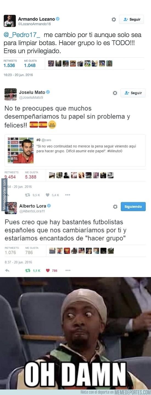 877991 - Varios futbolistas profesionales españoles critican en twitter las palabras de Pedro