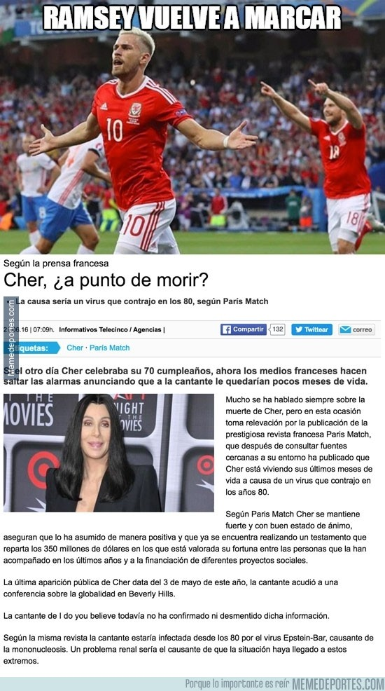 878172 - Ramsey marcó ayer y peligra mucho el estado de Cher