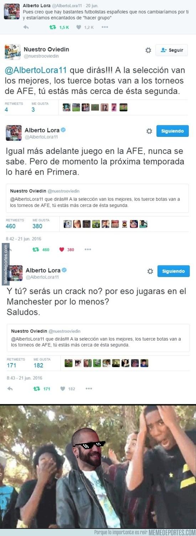 878573 - Alberto Lora está que se sale en Twitter