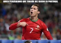 Enlace a Nani salvando a Portugal en 2016