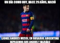 Enlace a ¡Feliz cumpleaños Messi!