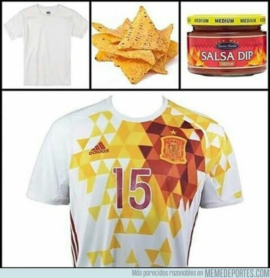 879929 - Qué fácil se hizo la camiseta de España...