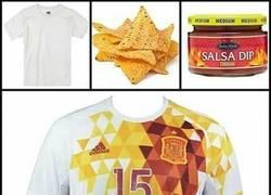 Enlace a Qué fácil se hizo la camiseta de España...