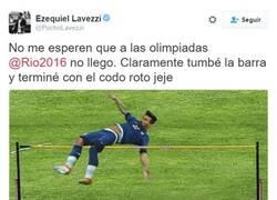 Enlace a Lavezzi sabe reírse de su lesión