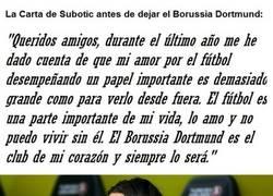 Enlace a La Carta de Subotic al Dortmund tras abandonar el Borussia Dortmund