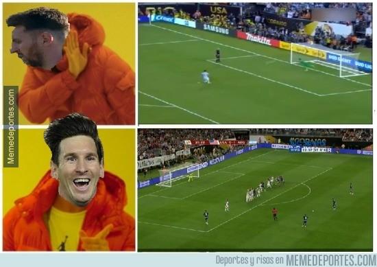 881622 - Lo de Messi son los goles difíciles, pero los fáciles...