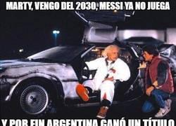Enlace a Marty, vengo del 2030, Messi ya no juega