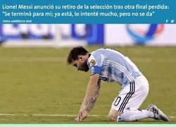 Enlace a Messi decide que deja la selección argentina. ¿Es solo un calentón?