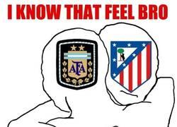 Enlace a Argentina y Atlético de Madrid, parecidos razonables