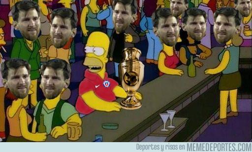 883698 - Pobre Chile, quedan bicampeones de la Copa América, todos hablan sobre Messi