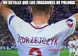 Enlace a Un detalle que los jugadores de Polonia, por @toniemcee