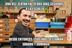 Enlace a Zlatan no va al colegio, el colegio va a Zlatan