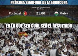 Enlace a Todos los aficionados merengues están contentos por el Portugal-Gales