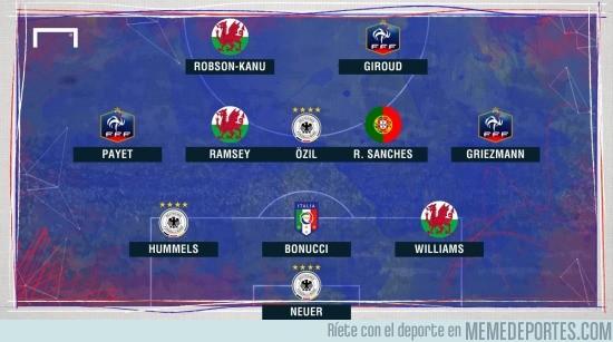 886141 - El XI ideal de los cuartos de Final de la Euro