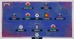 Enlace a El XI ideal de los cuartos de Final de la Euro