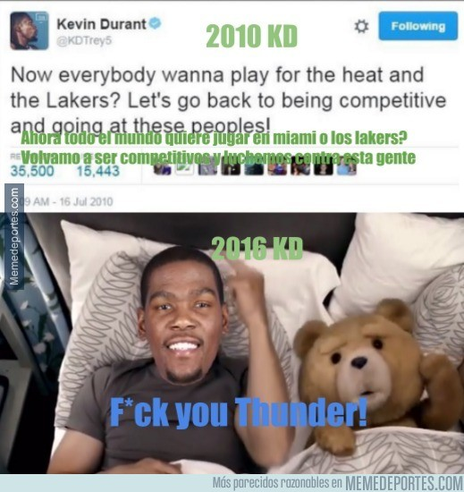 886215 - El tweet de Kevin Durant en 2010 que lo deja KO