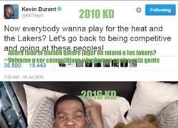 Enlace a El tweet de Kevin Durant en 2010 que lo deja KO