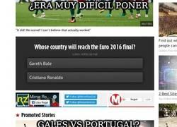Enlace a ¿Era muy difícil poner Gales vs Portugal?