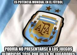 Enlace a Está en riesgo la participación de la selección argentina de fútbol en los Juegos Olímpicos