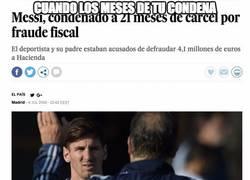 Enlace a ÚLTIMA HORA: Messi condenado a 21 meses de cárcel por fraude fiscal