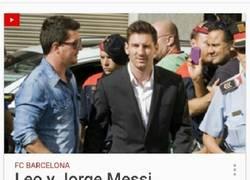 Enlace a Messi tiene recursos