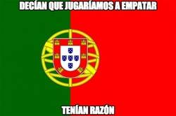Enlace a Decían que Portugal iría a por el empate