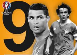 Enlace a Cristiano empata a Platini como máximo goleador de la Eurocopa
