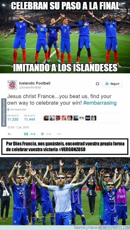887474 - La celebración de Francia enfurece a Islandia y les contestan así en Twitter