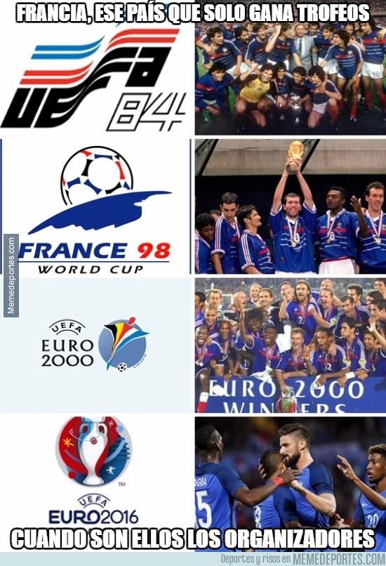 887784 - Las veces en que Francia gana torneos