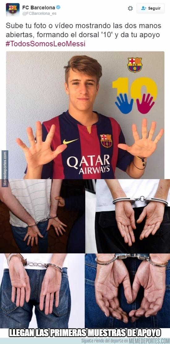 887894 - Estas son las primeras muestras de apoyo a Messi