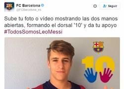 Enlace a Estas son las primeras muestras de apoyo a Messi