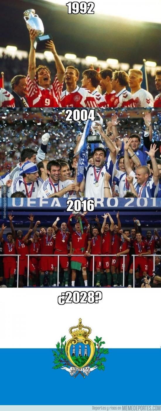 888996 - Cada 12 años hay un campeón inesperado en la Euro