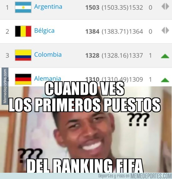889028 - Curiosidades del ranking FIFA