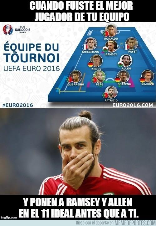 889170 - ¡INCREÍBLE! Bale fuera del once ideal de la Euro