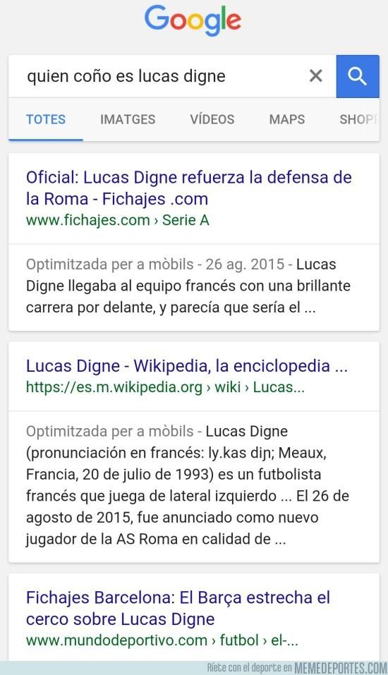 889502 - Culés ahora mismo tras anunciarse el fichaje de Lucas Digne