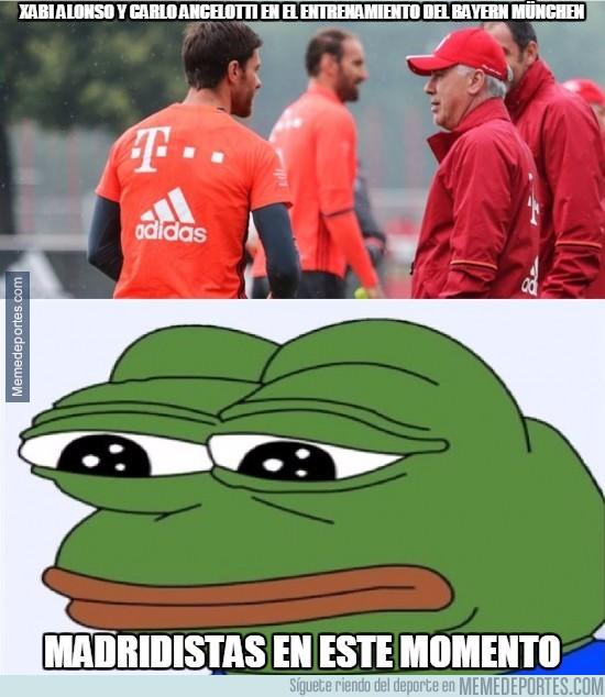 889652 - Xabi Alonso y Carlo Ancelotti en el entrenamiento del Bayern München