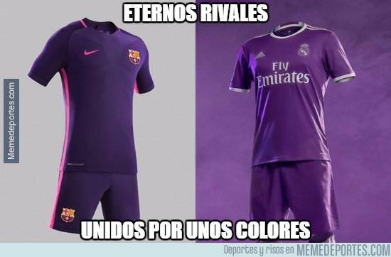 MEMEDEPORTES   Barcelona y Real Madrid unidos por el color de la ... cf90d42f51f1e