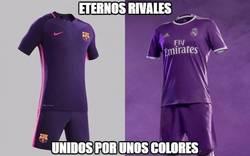 Enlace a Barcelona y Real Madrid unidos por el color de la camiseta