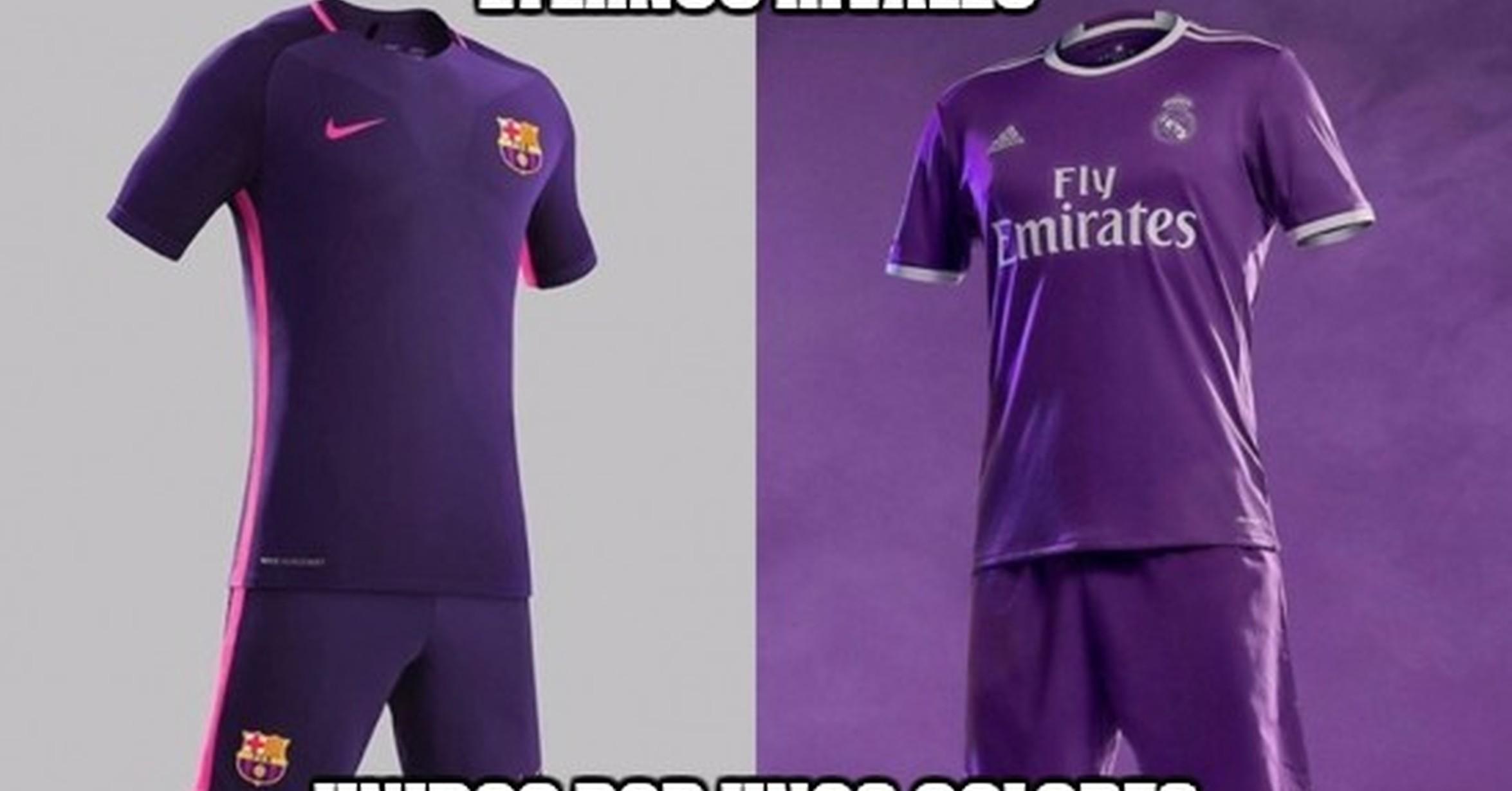 8b299e8c1e8f3   MEMEDEPORTES   Barcelona y Real Madrid unidos por el color de la camiseta