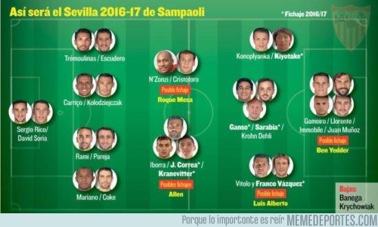 890503 - El equipazo que se está montando el Sevilla para la próxima temporada ¡Brutal!
