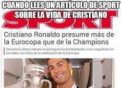 Enlace a Cuando lees un artículo de Sport sobre la vida de Cristiano