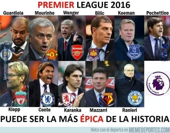890611 - Increíble la competencia de los entrenadores por el titulo de la Premier League 2016
