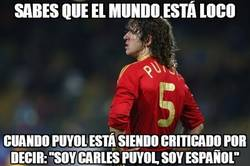Enlace a Críticas e insultos a Puyol por decir: