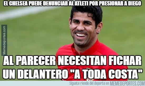 891213 - El chelsea puede denunciar al Atleti por presionar a Diego Costa