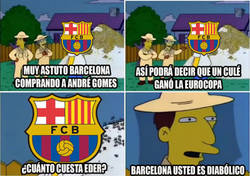 Enlace a Barcelona, usted es diabólico