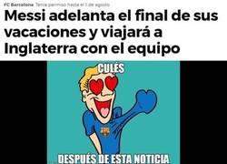 Enlace a Messi adelanta 7 días su vuelta